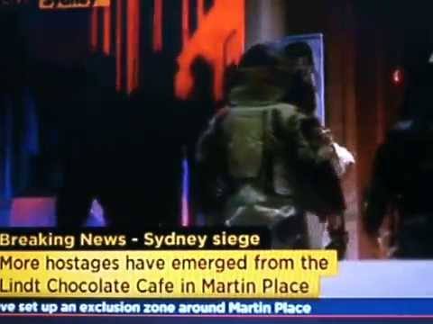 FREED! - Rescue Attempt Caught Live - Hostages are rescued from Sydney Cafe