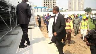 Visite du Stade Mbappe Leppe de Douala en Fevrier 2019 par Vincent Kamto.avi