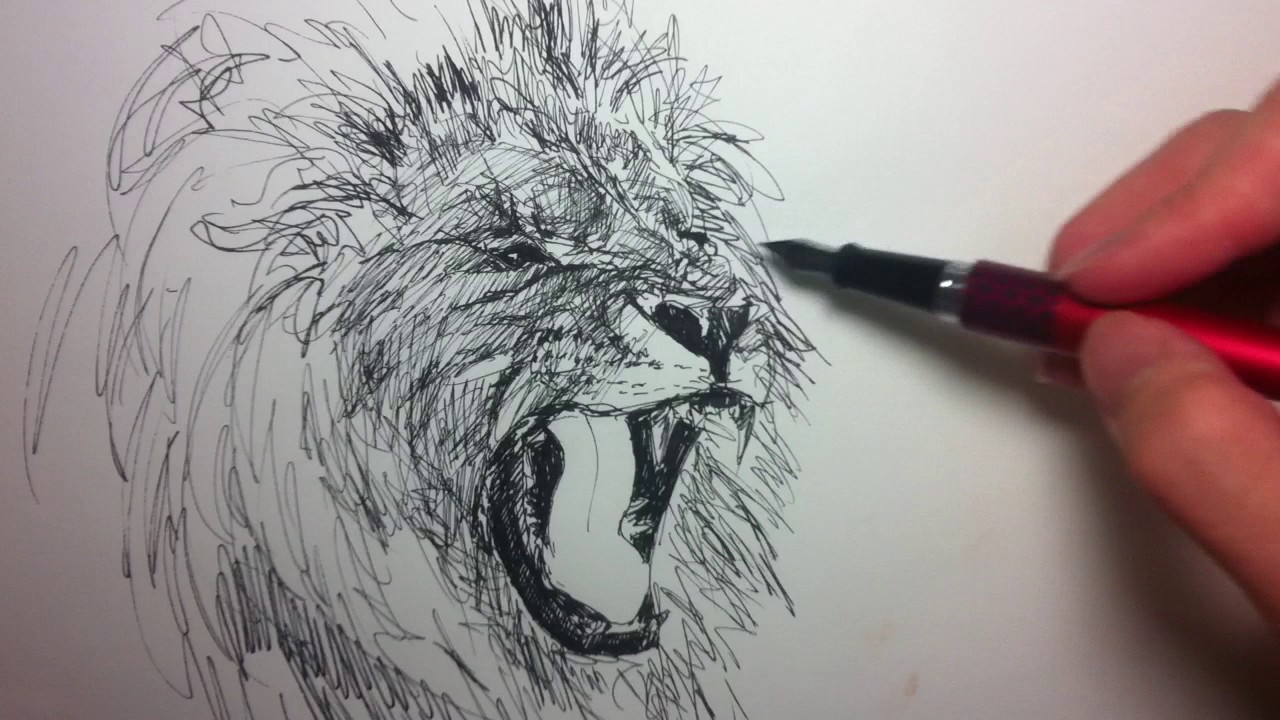 how to draw with fountain pen