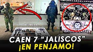 ¡URGENTE! Capturan a 7 malandros de Jalisco tras una persecución, en Pénjamo, Guanajuato.