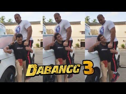 Video - Salman Khan Lifts Bodybuilder Nephew On His Shoulder On Dabangg 3 Set Mp3