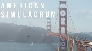 American Simulacrum. San Francisco Palace of Fine Arts & Golden Gate Bridge.