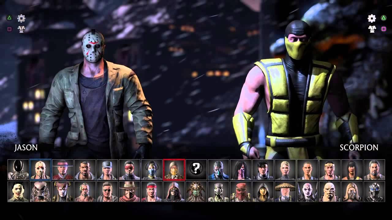 Mortal Kombat XL character select