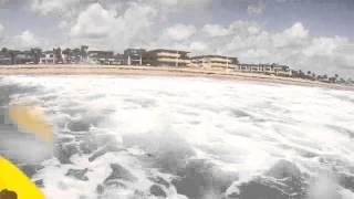 Ocean (Surf) Kayaking in Hillsboro Mile Florida