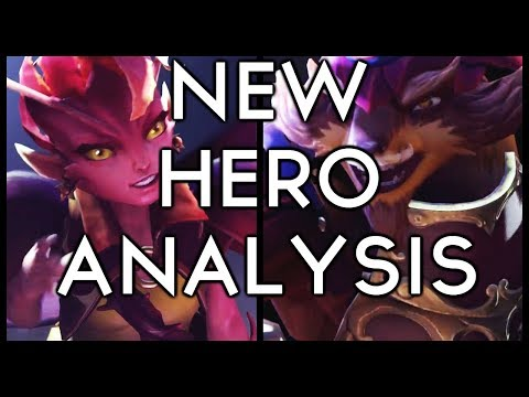 TWO NEW DOTA HEROES!! Ability Analysis and Predictions