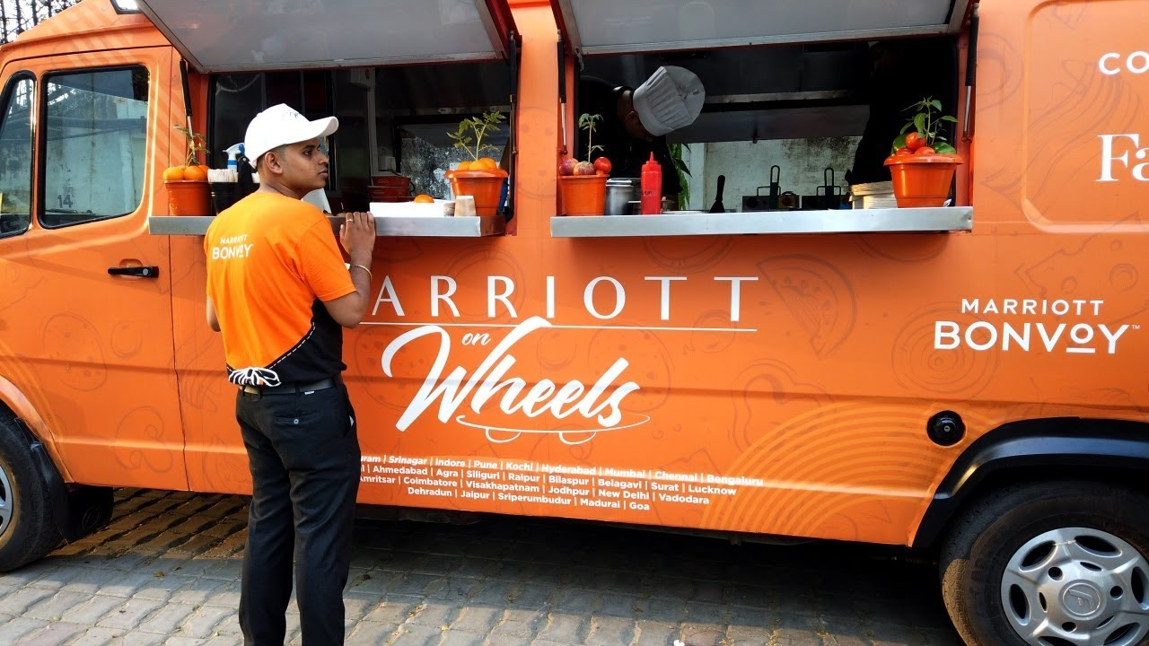 Marriott on Wheels | Best Food Truck in India | Marriott Bonvoy | luckyynow
