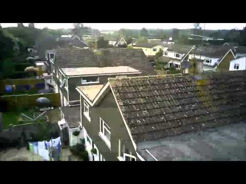 Hubsan X4 107C HD camera flight samples - 2MP 720p drone quadcopter