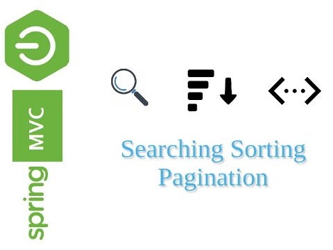 Searching, Pagination & Sorting with Spring MVC