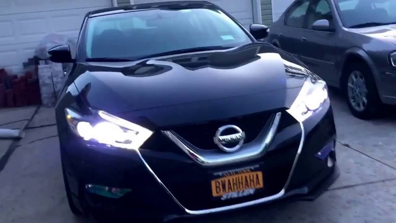 2016 Nissan Maxima Leds Lights Day And Night Comparison