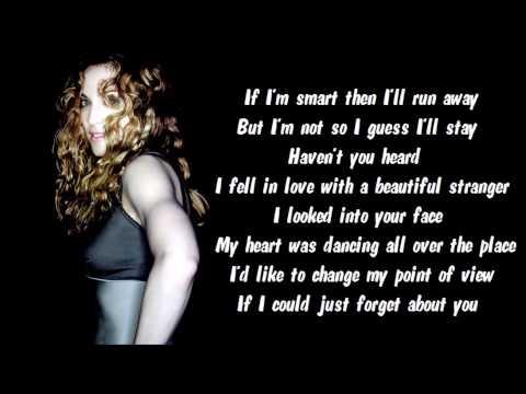 Madonna - Beautiful Stranger Karaoke / Instrumental with lyrics on screen