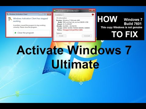 Windows 7 Ultimate Permanent Activation | Unsupported Partition Table | Remove Build 7601