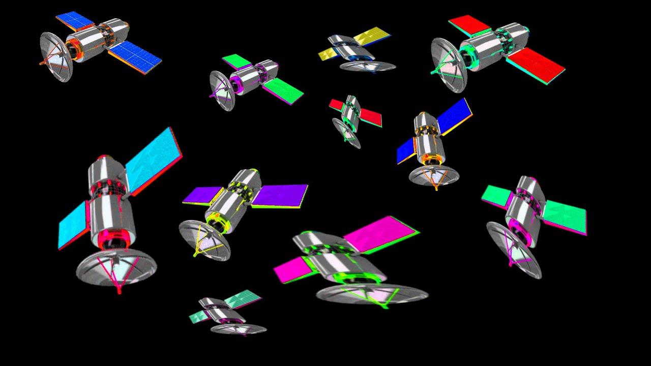 Flat Earth 103 Satellite Hoax 6000 Cartoon Satellites