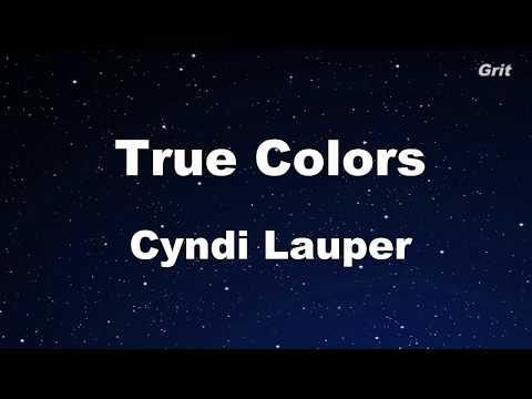 True Colors - Cyndi Lauper Karaoke【No Guide Melody】