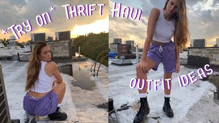 THRIFT HAUL (try on/outfit ideas)
