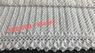 Easy crochet baby blanket/crochet blanket pattern /craft & crochet border