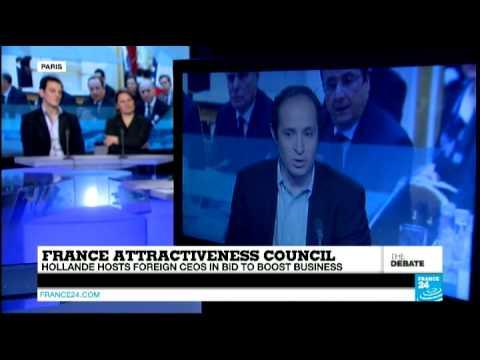 François Hollande hosts foreign CEOs (part 2) - #F24Debate