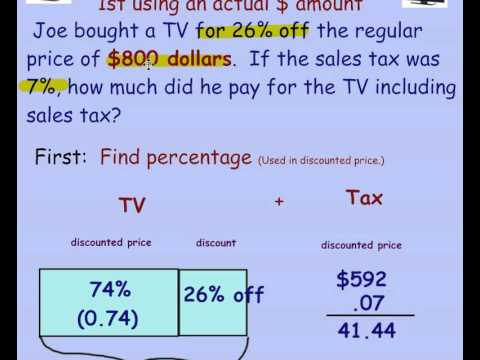 Percent Off Sales Tax