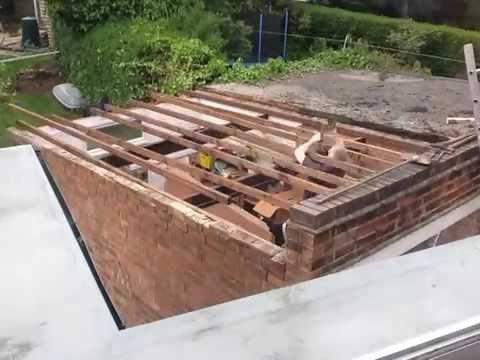 New garage roof - YouTube