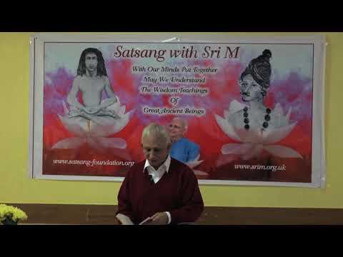 Sri M - Dhyana Yoga - Satsang in West Drayton UK, 2017