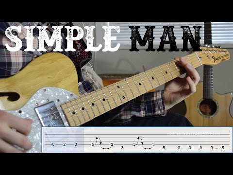 "Learn the riff from ""Simple Man"" by Lynyrd Skynyrd - Quick, Easy Electric Guitar Tutorial"