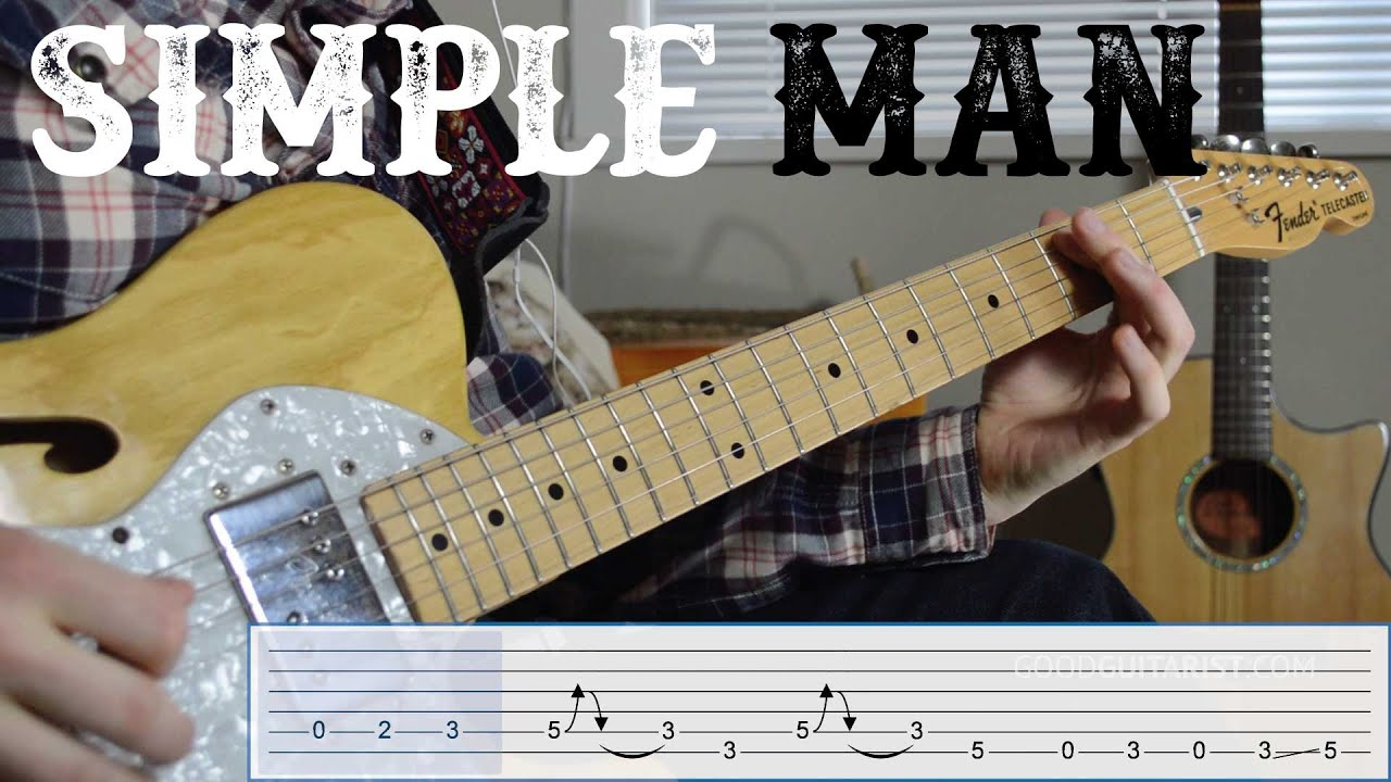 learn the riff from simple man by lynyrd skynyrd quick easy electric guitar tutorial youtube. Black Bedroom Furniture Sets. Home Design Ideas