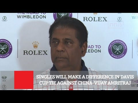 Singles Will Make A Difference In Davis Cup Tie Against China- Vijay Amritraj