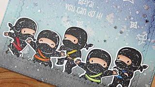 Mama Elephant Tiny Ninjas Encouragement Card