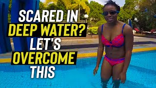 Scared Girl in deep water LEARN to SWIM with confidence