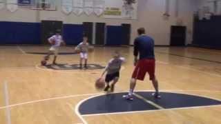 Elite Hoops Basketball: 2 Ball Toss And Cross