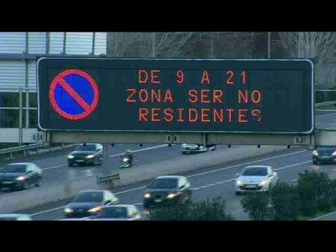 Madrid prohíbe circular a la mitad de los vehículos este jueves