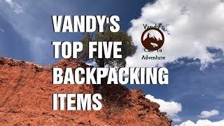 Vandy's Top 5 Backpacking Items - Tagged by Happily Ever Outdoors