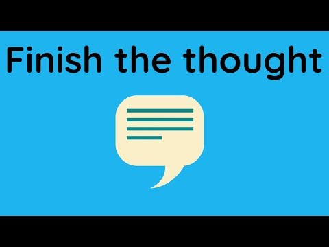 ESL Warmer Finish the Thought - YouTube