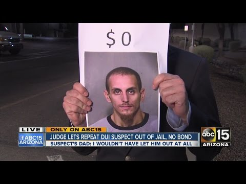 Judge lets repeat DUI suspect out of jail on no bond