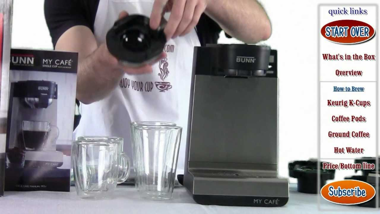 Single Cup Coffee Maker Uses Grounds : Review: BUNN MCU My Cafe Single Cup Multi-Use Brewer (k-cups, pods, ground coffee) - YouTube