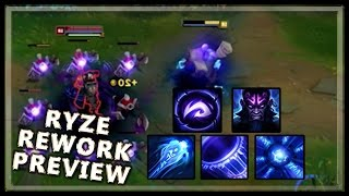 Ryze Rework Gameplay Abilities Preview - League of Legends