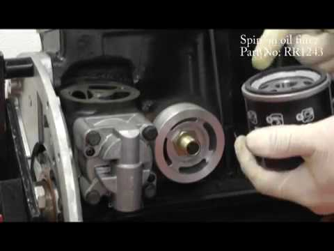 Fitting A Spin On Oil Filter Adaptor To A Triumph Stag Youtube