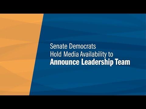 Senate Democrats Announce Leadership Team