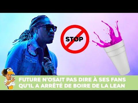 Future n'osait pas dire à ses fans qu'il a arrêté de boire de la Lean !