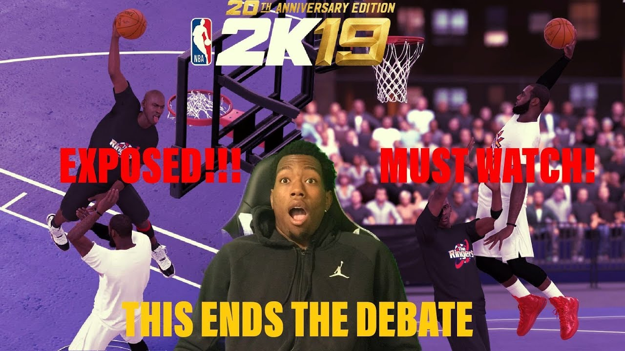 db0791b57885 MICHAEL JORDAN v LEBRON JAMES. NBA 2k19 settles the debate once and for  all  REALISTIC MOVES! POSTER