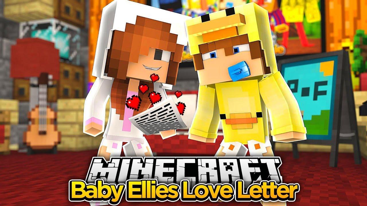 Minecraft Date Baby Ellie Sends Baby Duck A Love Letter