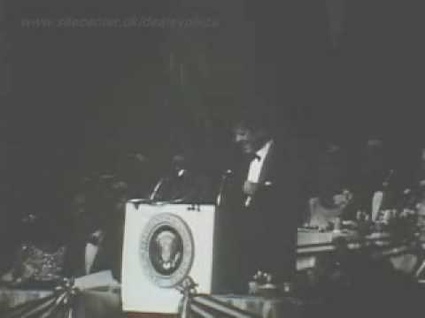 President John F. Kennedy humor at fund-raiser for the National Democratic party.