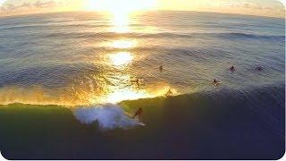 Surfing At Sunset | Shot From DJI Phantom 2 Drone