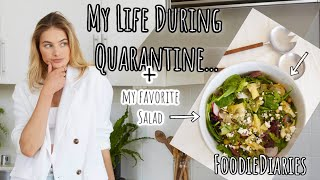 Foodie Vlogs + A Day In My Life // My Favorite Salad Recipe During Quarantine #FoodieVlogs