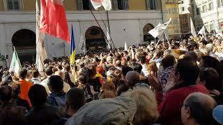 Oggi 10 ottobre 2017 ore 13 Piazza MONTECITORIO  Roma. Emergenze  democratiche