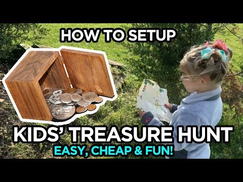 How To: Awesome Kids Treasure Hunt - Fun, Easy & Cheap Outdoor Activity!