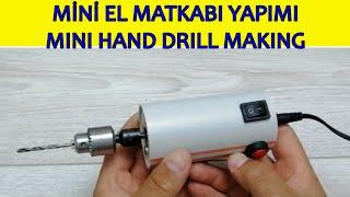 Mini El Matkabı Yapımı (mini hand drill making dıy, kendin yap DC 775 motor ve su borusundan)