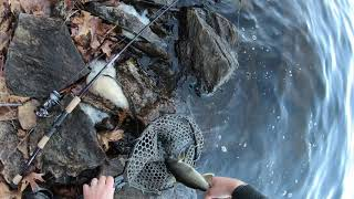 NYC Drinking Reservoir Fishing Finding FISH in COLD Water Late Fall 2020