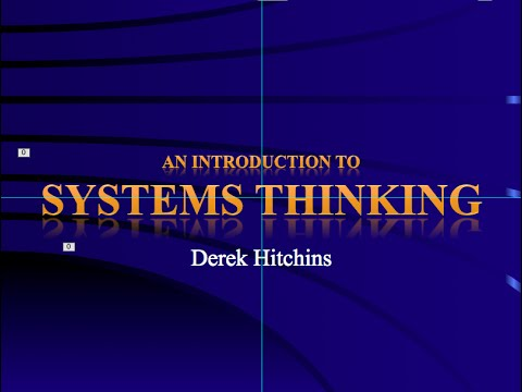 Systems & Systems Engineering – Systems Thinking