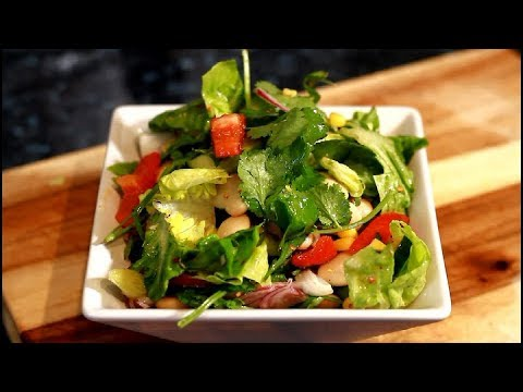 EASY GREEN SALAD RECIPE, SUPER HEALTHY AND DELICIOUS, HOW TO MAKE IT !!
