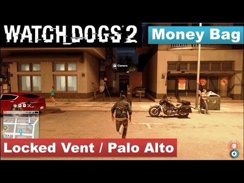 Watch Dogs 2 - Money Bag / In a locked vent in Palo Alto.